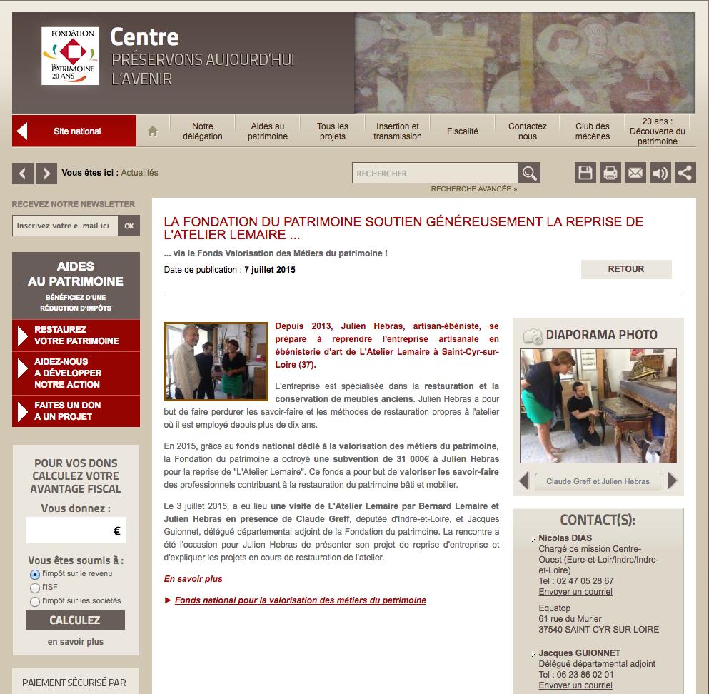 Presse Atelier Lemaire